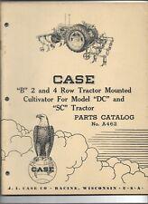 Original Case Model B Moldboard Cultivator Parts Catalog Used On Dc Sc Tractor