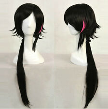 RWBY WIKI LIE REN Black Mix Red Long Tail Cosplay Wig Heat Resistant Hair Wigs