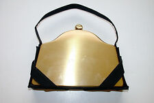 Antique Evening Purse Volupte' USA Compact Brass in Material Hand Bag