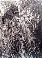 SUSAN WILMARTH RABINEAU 1942- 2011 CHRISTOPHER ABSTRACT EXPRESSIONIST DRAWING