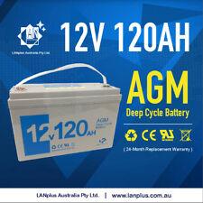 12V 120AH AGM DEEP CYCLE BATTERY Caravan Boat Solar Fridge 4WD 2Years WTY >100Ah