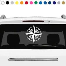 Compass Naval Ship Nautical Star Rear Window Sticker Decal Car Truck Laptop v3