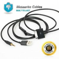 1ft 30cm LINE OUT audio cable 3.5mm for iPad 2 iPhone 4S 4 3GS iPod Touch Nano