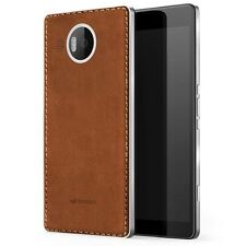 MOZO MICROSOFT LUMIA 950 XL WIRELESS CHARGING BACK COVER CASE NFC COGNAC SILVER