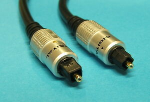 HQ Toslink Digital Audio Optical Lead Cable 1m