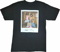New Men's Cheech & Chong Movie Polariod 70s 80s Black Vintage Retro T-Shirt Tee