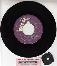 "NAT KING COLE  Those Lazy, Hazy, Crazy Days Of Summer 7"" 45 rpm vinyl record"