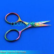 "Razor scissors 4"" Rainbow plasma coating super sharp blades fly tying New BTS-37"