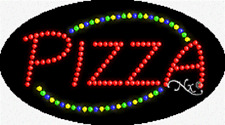 """NEW """"PIZZA"""" 27x15 OVAL SOLID/ANIMATED LED SIGN w/CUSTOM OPTIONS 24068"""