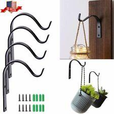 5/10/20Pcs Iron Wall Hooks Metal Lantern Bracket Coat Hook Plant Planter Hangers