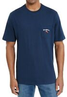 Tommy Bahama Mens T-Shirt Blue Size Medium M Pass The Chips Graphic Tee $49 465