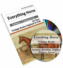 Rare Horse Training Riding Books on DVD  Schooling Behaviour Farrier Shoeing 223