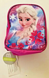 DISNEY FROZEN ELSA LUNCH BAG TOTE - Insulated mesh side pocket handle on top NWT