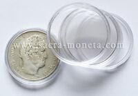 Capsules plastique rondes pour pièces de 5 Francs Argent diamètre 37 mm