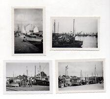 Lot 4 PHOTOS ANCIENNES N&B CONCARNEAU vers 1950 Rempart Bateau de Pêche