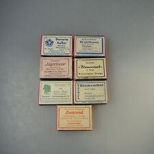 Konvolut 7 Streichholzschachteln Gasthäuser um/ab 1950 (57110)