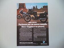 advertising Pubblicità 1980 MOTO BMW R100 R 100 RT