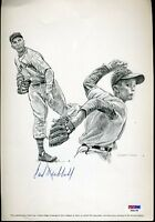 Carl Hubbell Signed Psa/dna Certed 8x10 Photo Autograph