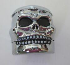 3 piece ~36 mm Silver Skull Tobacco Spice Herb Mill Grinder