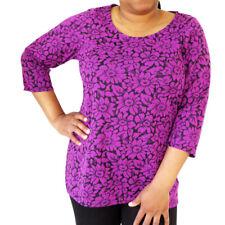 RRP - £39 Women's Ladies Top Plus Size Floral Print Blouse Ex Store 18-32