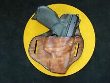 Ruger SR 22  hi rise leather holster burnish brown Kwik & Free