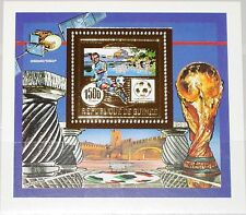 GUINEA 1990 Block 360 A GOLD Foil Soccer World Cup Fußball WM Football MNH