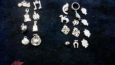 Mixed lot of 20 Charms 12 Sterling Silver marked