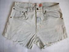 Levi High Waisted Shorts Size 12 White Bleached Stretch Vintage Denim Shorts W32