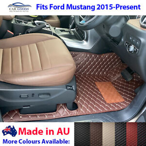 Made in Australia Customised Floor Mats Colours for Ford Mustang 2015-Present