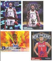 Zion Williamson Duke Blue Devils ACEO Basketball Cards. (4 cards) FREE SHIP!!