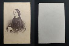Charlotte de Belgique, impératrice du Mexique Vintage albumen print CDV. Charl