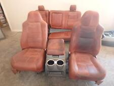 99-10 FORD F250 FRONT REAR SEAT CONSOLE KING RANCH LEATHER POWER HEAT