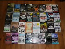 JOB LOT OF 32 CRIME THRILLER BOOKS PETER JAMES MICHAEL CONNELLY LEE CHILD