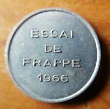 ESSAI de frappe 'un module de 1/2 Franc 1966 sans différent 4,3 gr