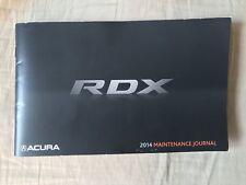 2014 Acura RDX Maintenance Journal-Fast Free Shipping!