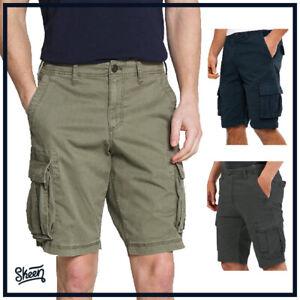 Bermuda da Uomo in Cotone con Tasconi Cargo Pinocchietto Pantaloni Estivi Shorts