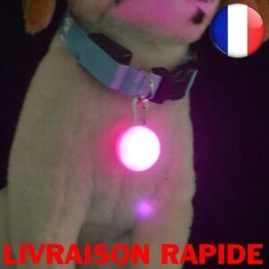 Lamp LED Pocket Dog Cat Necklace Pendant Security Night Promenade Walk