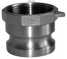 """1/2"""" Part A Female Npt x Male Adapter 304Ss Hose Fitting Cam & Groove Hf500431"""
