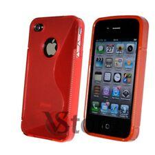 Cubierta De La Caja Gel De Silicona Rojo S-Line para APPLE iPhone 4/4G/4S