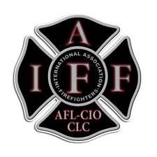 Black Firefighter Maltese Cross Sticker - IAFF Fire Truck Decal