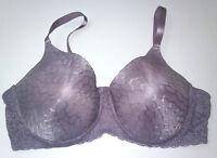 d08567525df Womens Bra Size 42D Purple Full Coverage Lace Underwire