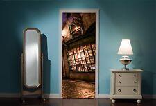PORTA MURALE Harry Potter di Diagon Alley Vista Adesivi Da Parete Decalcomania Carta Da Parati 306