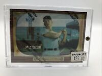 1996 Topps Finest Refractor #5 Mickey Mantle - Reprint 1955 #202 w/ Film