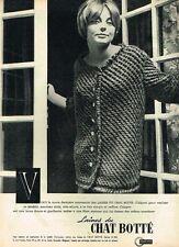 G- Publicité Advertising 1961 Les laines du Chat Botté
