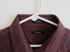 Alfani Mens Shirt XL Long Sleeve Button Down 100% Signature Cotton Striped Nice
