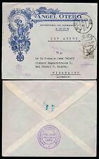 SPAIN ILLUSTRATED ADVERT.ENV.1938 ANGEL OTERO ANTICRIPTO GAMICO VIVA ESP +CENSOR