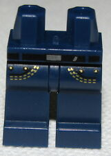 LEGO NEW DARK BLUE JEANS WITH POCKETS YELLOW STITCHING MINIFIGURE PANTS LEGS