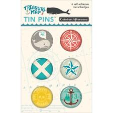 October Afternoon ~ TREASURE MAP ~ Tin Pins