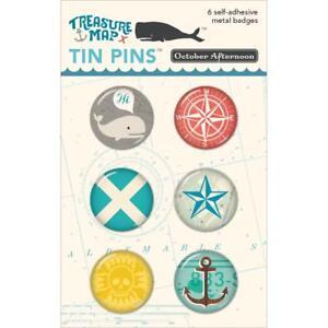 October Afternoon ~ TREASURE MAP ~ Tin Pins