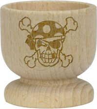 'Pirate Skull' Wooden Egg Cup (EC00002588)